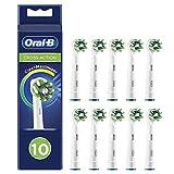 Oral-B CrossAction Cabezales de Recambio Tamaño Buzón, Pack de 10 Recambios Originales con Tecnología CleanMaximiser para Cepillos de Dientes Eléctricos